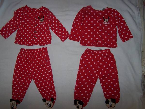 Photo 2 Never worn Disney Baby Outfits Minnie Mouse Sz 6-9 Mo. Footed Pants - $24 (Painesville township)