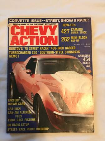 Photo Chevy Action Magazine - January, 1975 Back Issue, Very Good Condition - $5 (Medina)