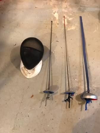 Photo Fencing Sword x 3, Face Mask - $35 (Rocky River)