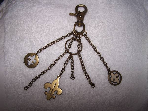 Photo Kathy Van Zeeland Keychain Ring with 3 Charms - $12 (Painesville)