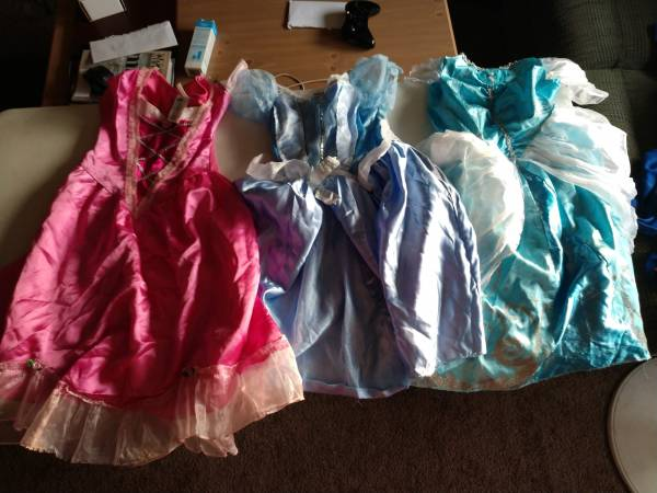 Photo Lot of 3 Girl39s Princess Dresses size 6 - $20 (Bedford Heights)