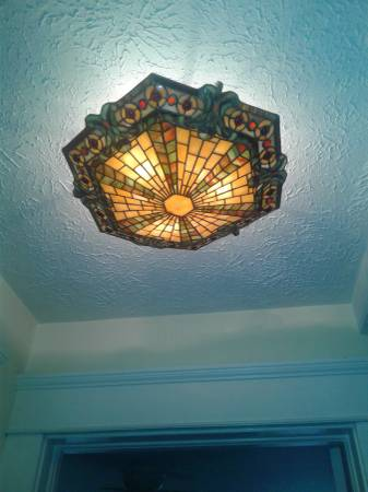 Photo Mission style stained glass ceiling l - $200 (Cleveland)