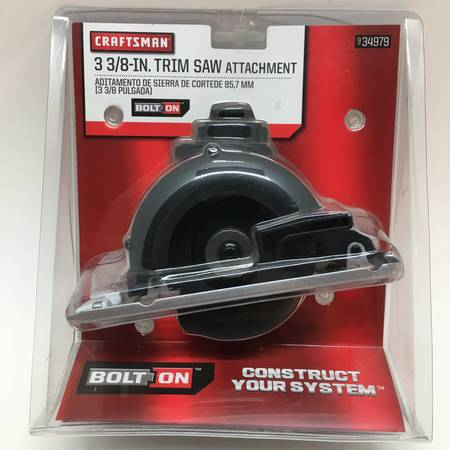 Photo NEW Craftsman Bolt-On 3-383939 Trim Saw Attachment 34979 - $35 (east side)