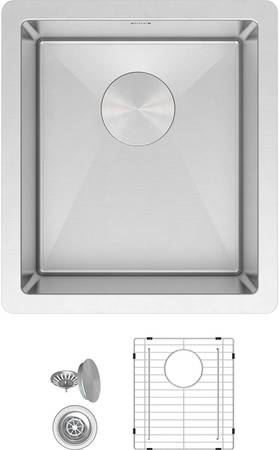 Photo NEW bar sink compact 13x15 in stainless steel undermount - $110 (Beachwood)