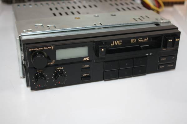 Photo OLD SCHOOL CAR AUDIO JVC Cassette Receiver KS-R33J mount box  manual - $40 (Westlake)