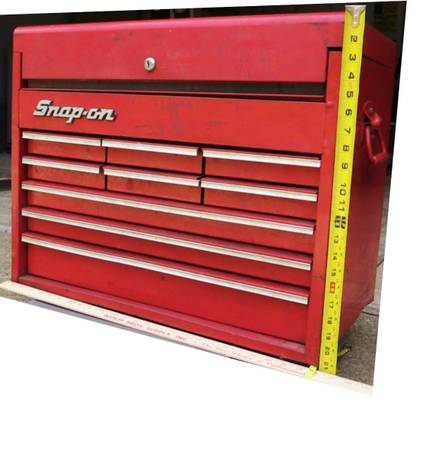 Photo SNAP- ON TOOL BOX LARGE VINTAGE 198039s HEAVY STEEL 9 DRAWER -NICE COND - $350 (Valley City, Oh  Medina County)
