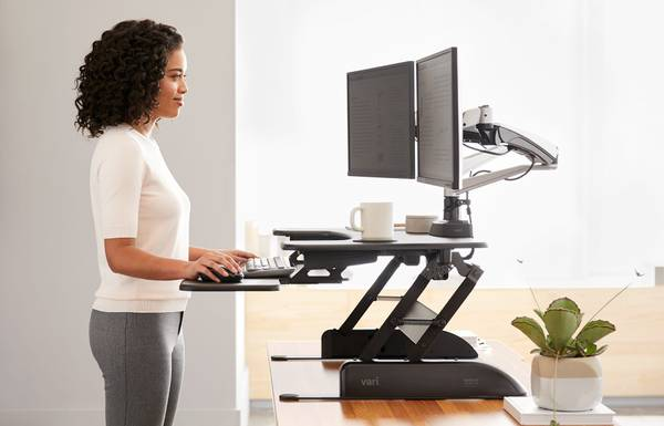 Photo Working From Home VariDesk ProPlus 36 Adjustable Desk Stand - $300 (Euclid)