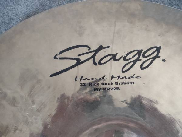 Photo used stagg mayra ride cymbal 22 inch - $150 (brookpark)