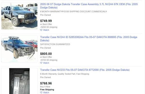 Photo 2005 Dodge Dakota Transfer Case - 4x4 - Parts - Sport - $1 (abq)