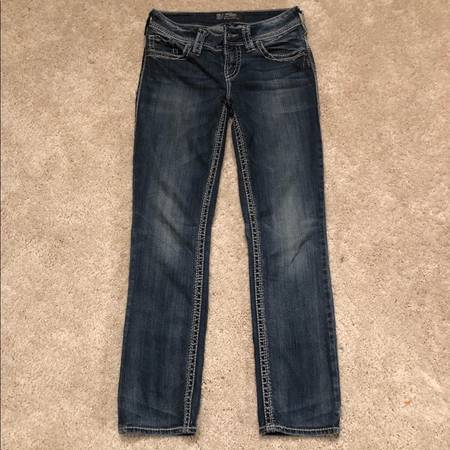 Photo Basically new SILVER Jeans - $30 (Amarillo)