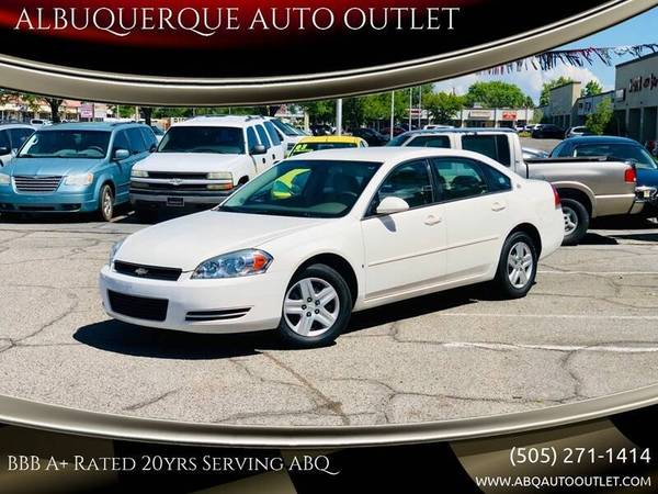 Photo Chevrolet IMPALA CLEAN LOW MI Warranted EzInhouse Financing Trades OK (www.ABQAUTOOUTLET.com 1400 Wyoming Blvd NE Albuquerque, NM)