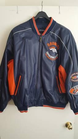 Photo Denver Broncos Super Bowl XXXII  XXXIII Leather Jacket (Albuquerque, NM)