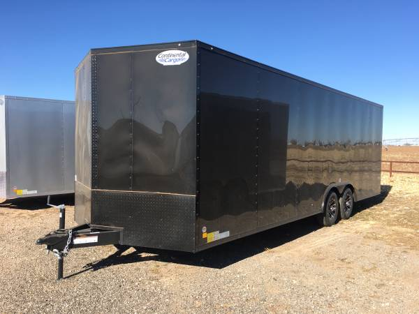 Photo New Blacked Out 8.5X24X7 Continental Cargo Enclosed Car Hauler - $9,295 (Lubbock)