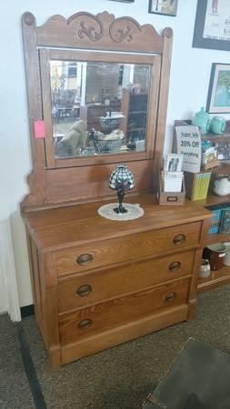 Photo Oak Dresser w Mirror 20 off - $299 (Albuquerque)