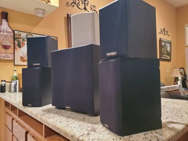 Photo Paradigm surround sound speakers - $300 (Albuquerque)