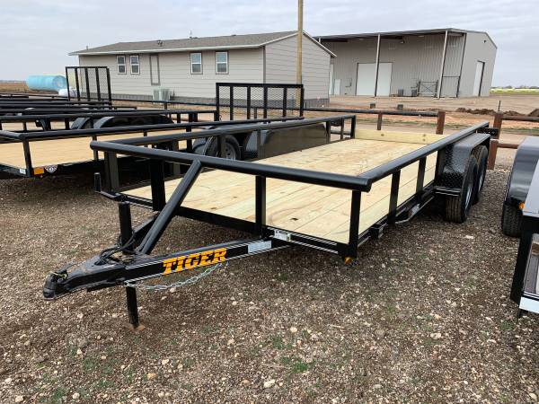 Photo TIGER 77X16 Tandem Axle Utility Trailers - Pipe Top - $2,291 (Lubbock)