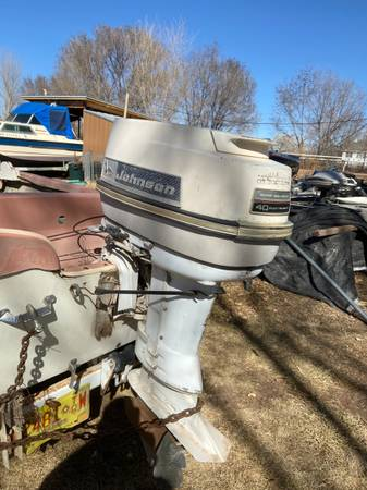 Photo Trailer, boat 50 hp Johnson outboard runs needs service. - $500 (Peralta)