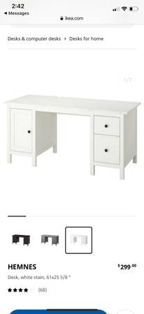 Photo White IKEA Hemnes desk - new in box - $275 (Santa Fe)
