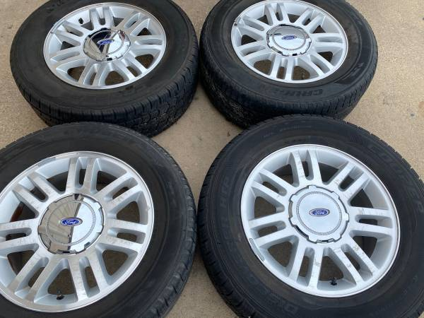 Photo (4) Ford F-150 Wheels F150 Alloy Rims Tires 18 - $525 (College Station)