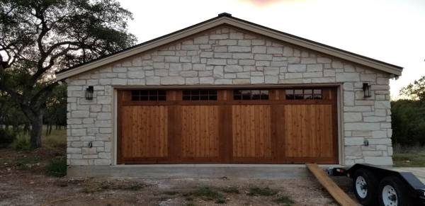 Photo Custom Wooden Garage Doors - $2,900 (College Station, Tx)