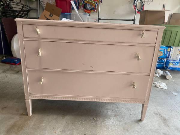 Photo Dresser Pink Cute Vintage All Wood - $85 (College Station)