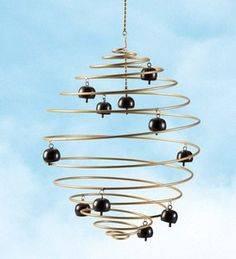 Photo Garden Spiral Wind Sculpture With Bells - $85 (Spiral Wind Sculpture With Bells)