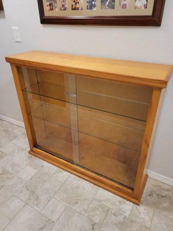 Photo Glass Doors  Shelves Display Case (Spring Branch)