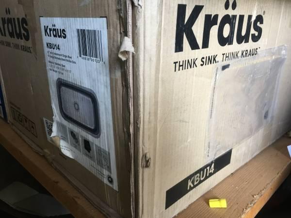 Photo Krauss KBU14 Brand-New Stainless Steel Sink 32quot Undermount - $175 (Austin)