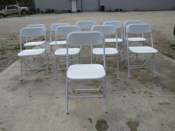 Photo Party Rental Equipment, Chairs, Tables, Inflatables Auction  (Tyler, Tx)