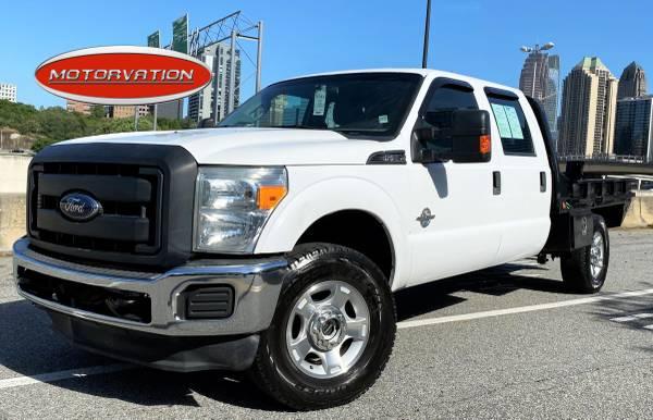 Photo 2015 Ford F250 4x4 Diesel Crew Flatbed - $21995 (F250 4X4 GAS)