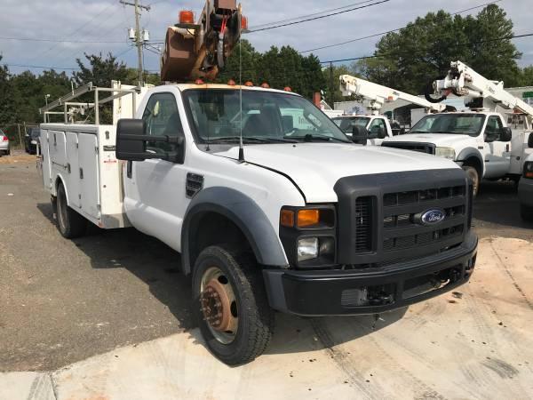 Photo 3739 2008 Ford F450 4x4 Bucket Truck F 450 F550 Boom Lift Van Service - $16900 (704-779-3350 call or text)