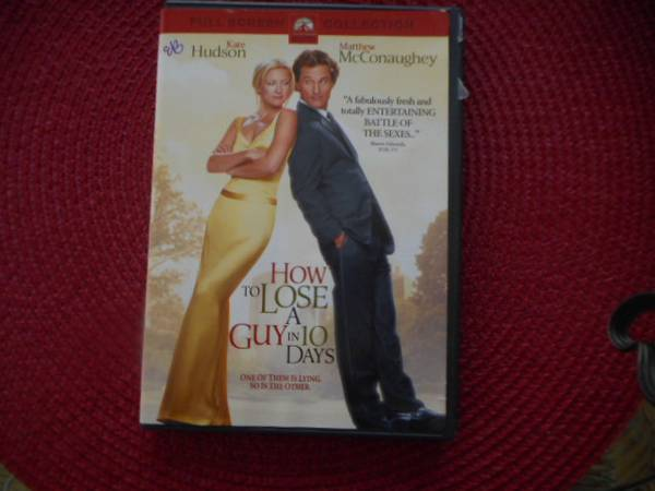 Photo DVD How to Lose a Guy in 10 days with Kate Hudson - $5 (ne Columbia)