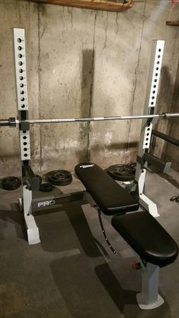 Photo Fitness Gear pro Olympic weight bench - $125 (Columbia)