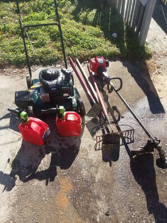 Photo Lawn mower and weed eater - $200 (Broad River)