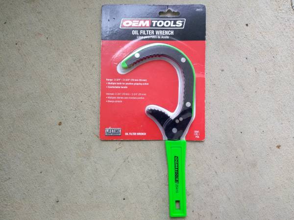 Photo Never opened oil filter wrench - $10 (Platt Springs Rd West Columbia)