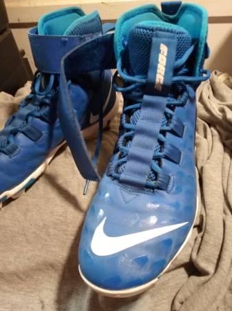 Photo Nike Force Blue Savage Shark 2 Football Cleats - Size 12 - $40 (Columbia)