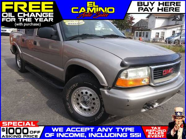 Photo 2004 GMC SONOMA (- $749 Down$175 payment oac BUY HERE-PAY HERE)