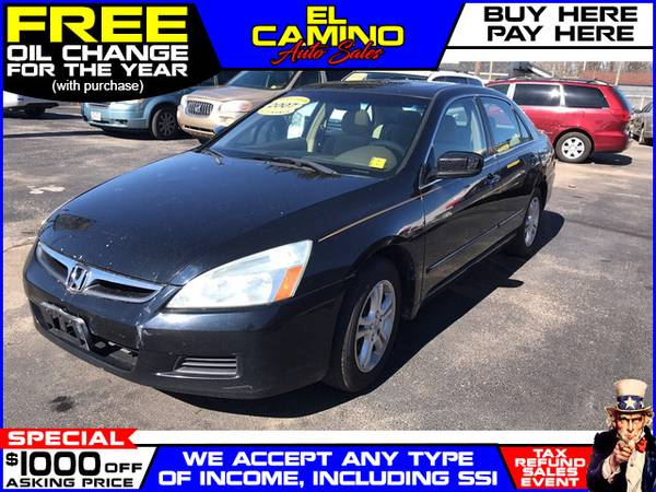 Photo 2007 HONDA ACCORD EX (- $749 Down$175 payment oac BUY HERE-PAY HERE)