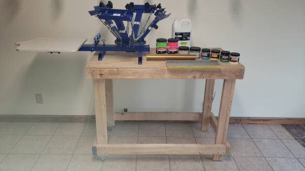 Photo 4 Color Silk Screen Station - $200 (Circleville)