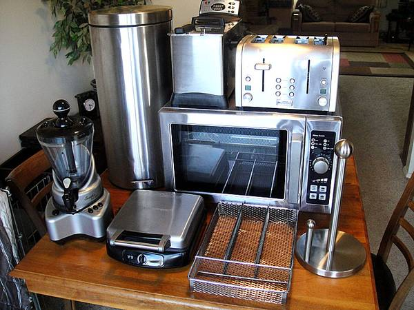 Photo 8-Piece Lot of Commercial Stainless Steel Kitchen Appliances - $280 (North Cols.)