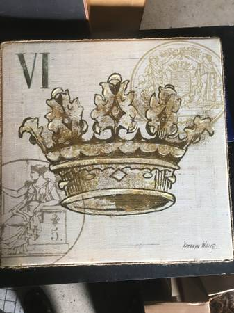 Photo Canvas art Royal Crown by Kathryn White - $140 (Columbus or Bexley)