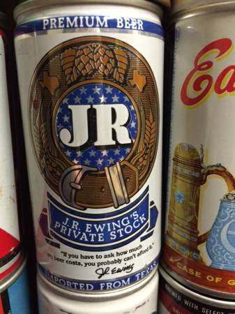 Photo Collectable beer cans - Including the JR Ewing can from DALLAS - $40 (Worthington)