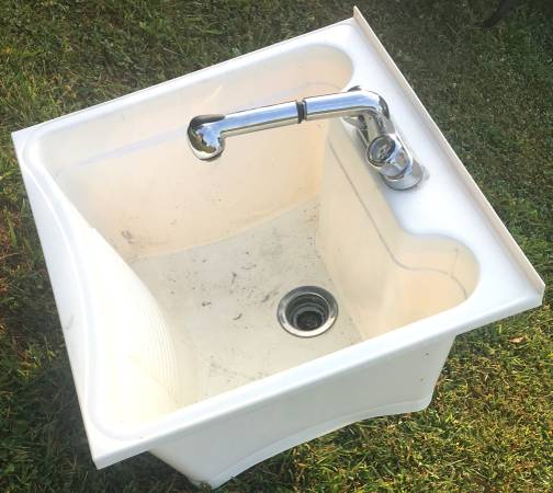 Photo Drop in utility sink with faucet - $50 (Columbus, Ohio)