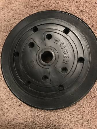 Photo Six(6) 15 lb Weider Weight Plates 90lbs total - $120 (Westerville)