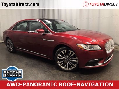 Photo Used 2017 Lincoln Continental AWD Select for sale