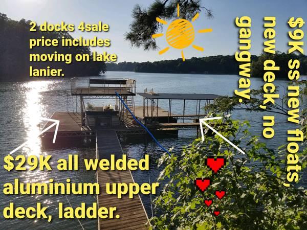 Photo 2 boat docks forsale. Lake lanier. - $9,000 (Gainesville)