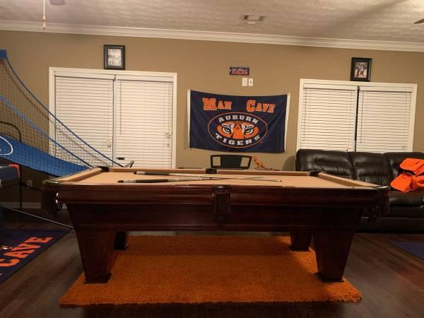 Photo 8 Foot 3 Piece Slate Brunswick Pool Table - $1700