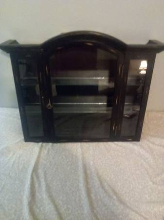 Photo Hanging cabinet with.a door and glass shelves - $20 (Phenix City)