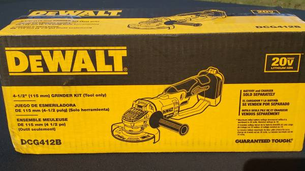 Photo New DeWalt 4-12 in. Cordless Angle Grinder 20V Lithium-Ion (ToolOnly) - $100 (Suwanee  Sugar Hill)