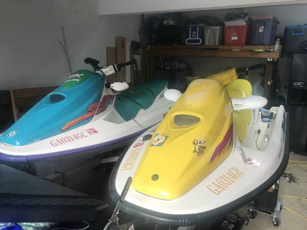 Photo Two running sea-doo jet skis and the trailer to pull them - $4,000 (Lawrenceville)